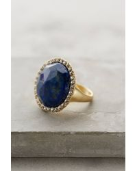 Anthropologie | Blue Shimmer-Round Ring | Lyst