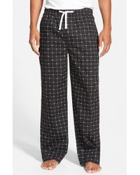 Lacoste | Black Cotton Lounge Pants | Lyst