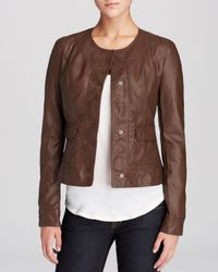 Kut From The Kloth Brown Aisnley Faux Leather Jacket