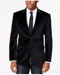 Tommy Hilfiger Gray Paisley Velvet Classic-fit Sport Coat for men