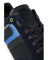 BOSS Green Blue 'gym Soft' Trainers In Material Blend for men