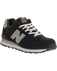 New Balance Black 574 Suede Trainers - For Men for men