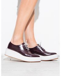 Pixie Market - Red Jeffrey Campbell Garrison Burgundy Pointed Loafers - Lyst