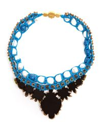 Shourouk | Multicolor Theresa Crystal, Pearl And Enamel Beaded Necklace | Lyst