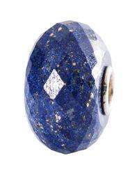 Trollbeads Blue Sterling Silver Lapis Lazuli Bead