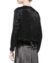Alice + Olivia - Black Kevin Sequined Cropped Jacket - Lyst