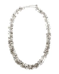 R.j. Graziano | Metallic Silvertone Leaf Drop Necklace | Lyst