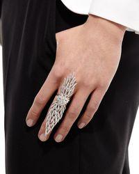 YEPREM - Metallic Wildfire 18k White Gold Diamond Ring - Lyst
