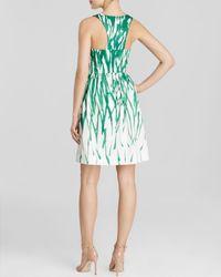 MILLY Green Dress - Coba Brushstroke Print