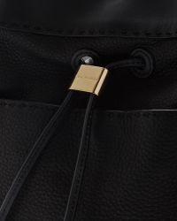 Ted Baker Black Stab Stitch Leather Bucket Bag