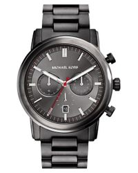 MICHAEL Michael Kors - Gray Michael Kors 'pennant' Chronograph Bracelet Watch for Men - Lyst