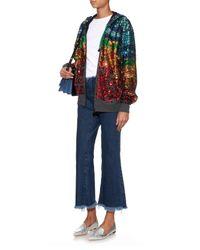 Preen Line Multicolor Sequin Hooded Sweatshirt