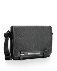 Calvin Klein - Black White Label Ck Coated City Messenger Bag for Men - Lyst