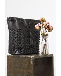 Nila Anthony - Black Woven Truth Bucket Bag - Lyst