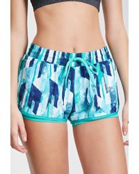 Forever 21 - Blue Active Abstract Print Running Shorts You've Been Added To The Waitlist - Lyst