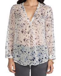 Joie | Transparent Auberon Silk Blouse | Lyst
