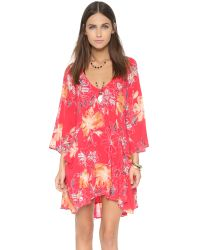 Free People | Red Eyes On You Mini Dress - Navy Combo | Lyst