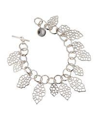 Panacea - Metallic Golden Double-circle Row Necklace - Lyst