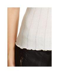 Polo Ralph Lauren | Beige Lace-trim Cotton Tank | Lyst