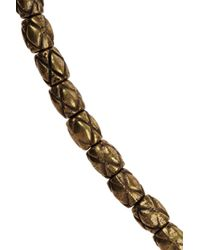 Isabel Marant - Metallic Goldtone Bead and Cord Necklace - Lyst