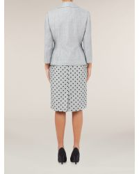 Precis Petite Gray Dove Grey Crinkle Jacket