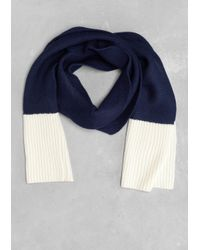 & Other Stories Blue Wool Scarf
