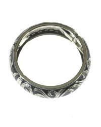 Indulgence Jewellery | Gray Dark Grey Round Bangle | Lyst