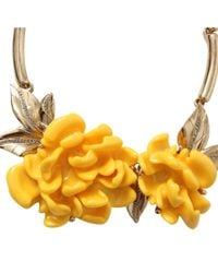 Oscar de la Renta - Yellow Resin Flower Necklace - Lyst