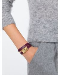 See By Chloé | Metallic Double Wrap Bracelet | Lyst