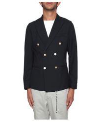Saucony - Blue Double Breast Blazer Jacket for Men - Lyst