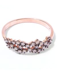 Suzanne Kalan | Pink Rose Gold Champagne Diamond Starburst Ring | Lyst