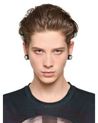 Givenchy - Black Svarowsi Crystals Magnetic Earrings for Men - Lyst