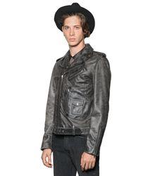 The Kooples Black Studded Suede Biker Jacket for men