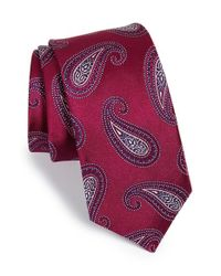 Michael Kors | Purple 'park Avenue' Paisley Silk Tie for Men | Lyst