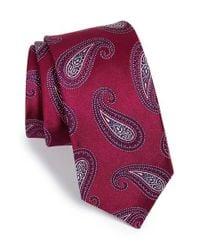 Michael Kors Purple 'park Avenue' Paisley Silk Tie for men