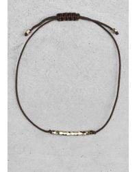 & Other Stories | Black Cotton Cord Bracelet | Lyst