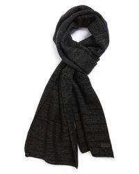 John Varvatos Black Ombre Wool & Cashmere Scarf for men