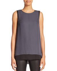 Vince | Gray Layered Tank Top | Lyst