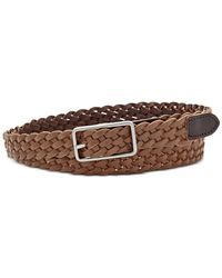Fossil | Brown Reversible Woven Belt | Lyst