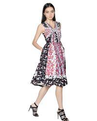 Peter Pilotto Pink Rh Waffle Silk Dress