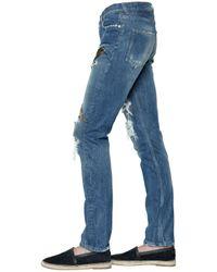 Dolce & Gabbana - Blue 17cm Gold Fit Embroidered Denim Jeans - Lyst