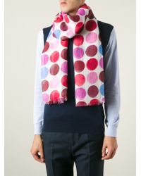 Kiton Multicolor Dotted Scarf for men