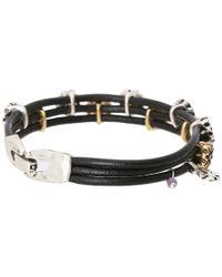 Lucky Brand   Black Flower Woven Bracelet   Lyst
