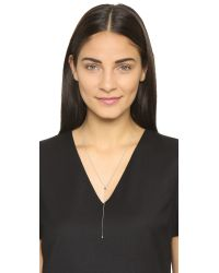 Vita Fede | Metallic Marquis Lariat Necklace - Silver/clear | Lyst
