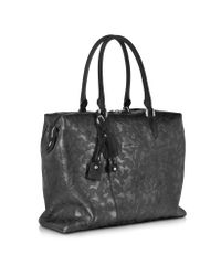 Santoni - Black Camouflage Leather Tote for Men - Lyst
