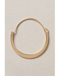 Anthropologie | Metallic Crescent Moon Hoops | Lyst