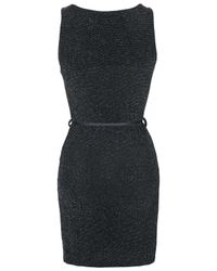 TOPSHOP - Black Belted Dress By Love - Lyst