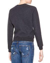 MSGM - Black Logo-center Sweater - Lyst