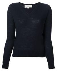 Vanessa Bruno Athé - Blue V-Neck Sweater - Lyst