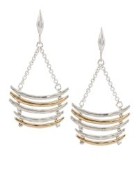 Robert Lee Morris | Metallic Boho City Hammered Two-tone Ladder Chandelier Earrings | Lyst